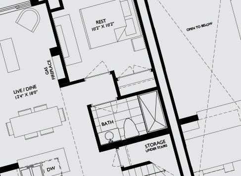 Blue Prints of Showroom | Mountain House at Windfall | Blue Mountain Ontario